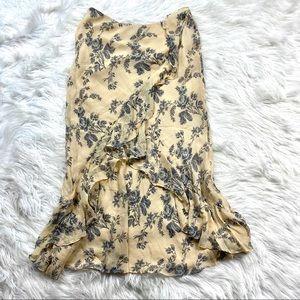 Ralph Lauren Silk Floral Romantic Maxi Skirt Boho